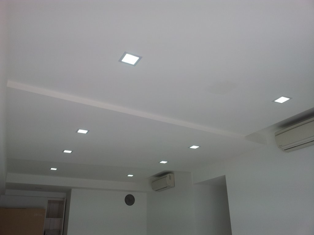 Ceiling false ceilings l box partitions lighting - Lights used in false ceiling ...