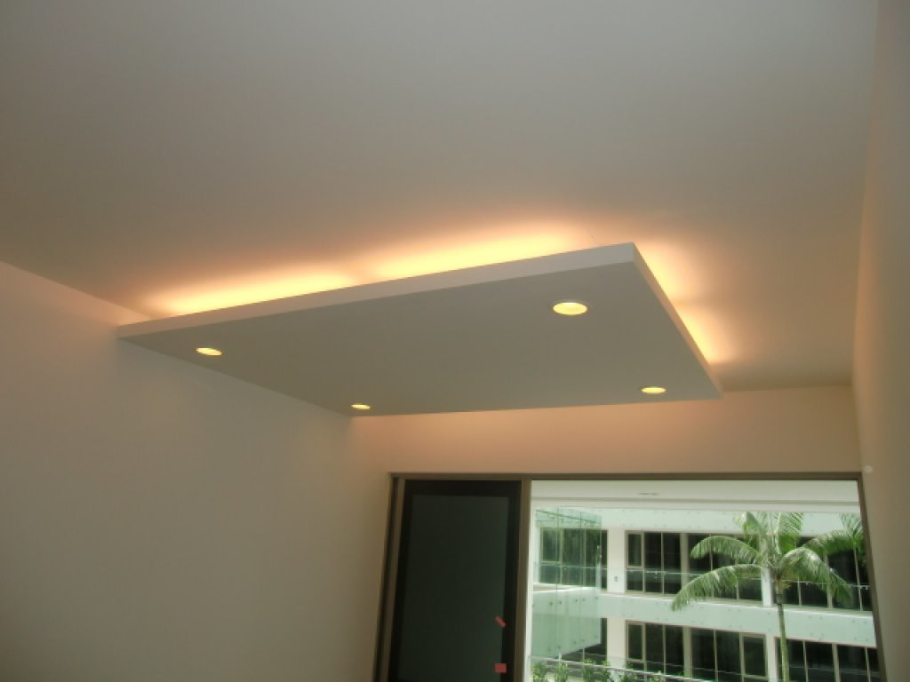 Island ceilings false ceilings l box partitions - Lights used in false ceiling ...