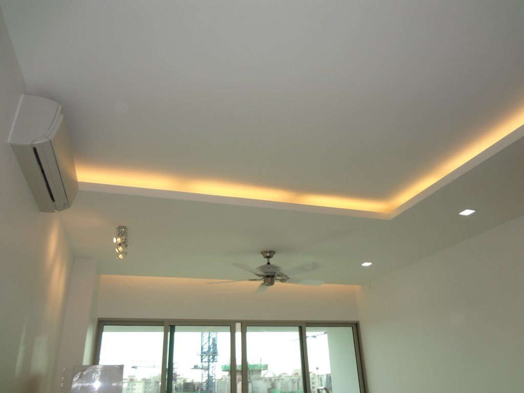 Lighting holders false ceilings l box partitions - Lights used in false ceiling ...