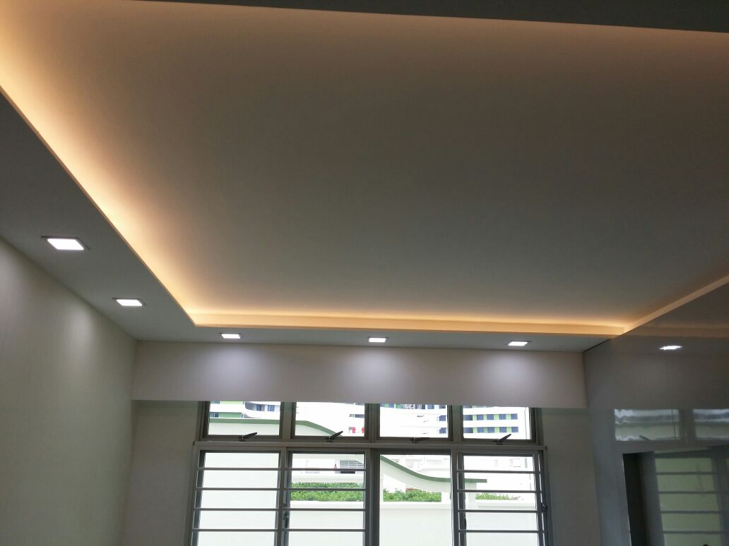 Plaster ceiling designs for living room false ceiling jpg - False Ceilings L Box Partitions Lighting Holders