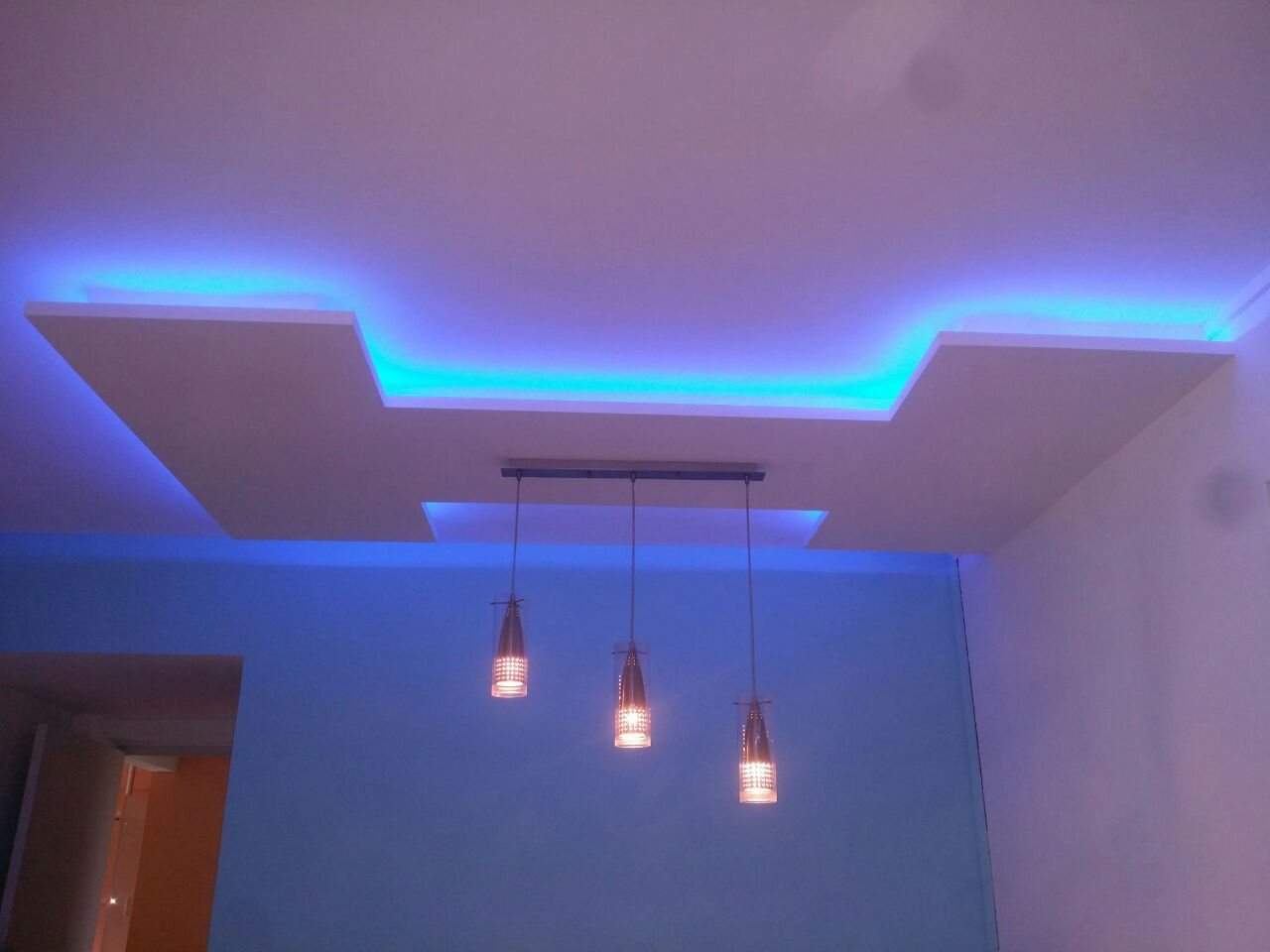 Home False Ceilings L Box Partitions Lighting Holders